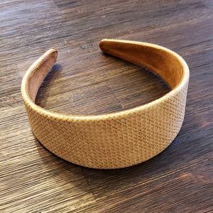 J. Crew woven tan headband new